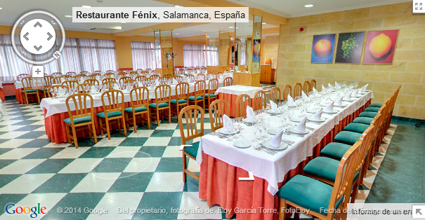 Google Maps Business View: restaurante Fénix