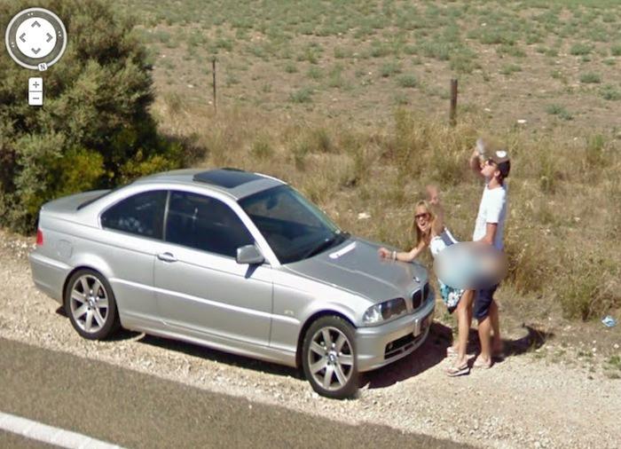 Momentos embarazosos en Google Street View
