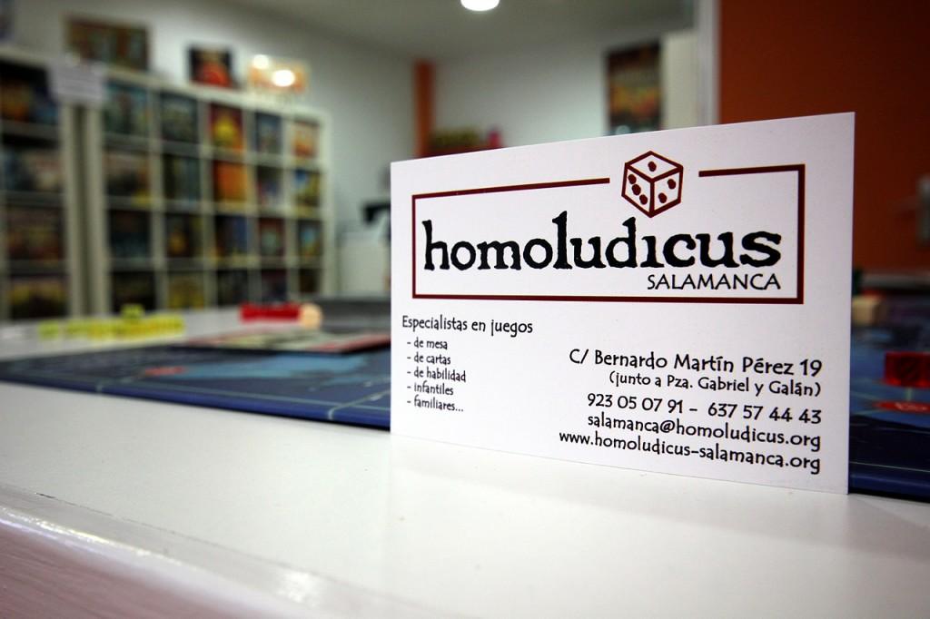 Homoludicus Tienda de juegos de mesa en Salamanca tarjeta