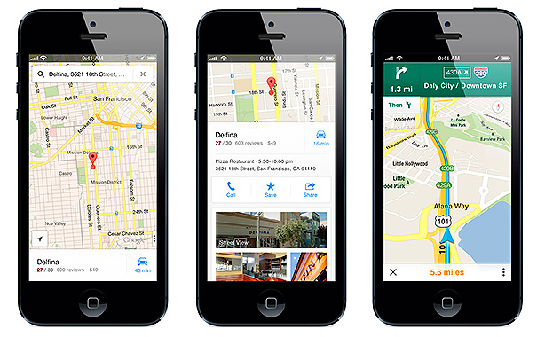 Google Maps Business View en iPhone